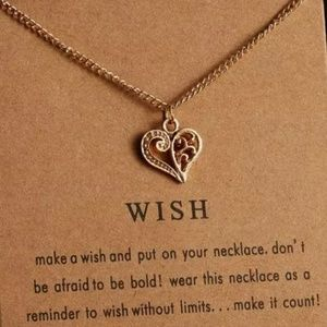 Jewelry - Floral Heart Wish Necklace 20 in chain